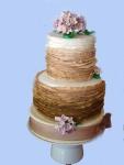 tarta de boda de volantes