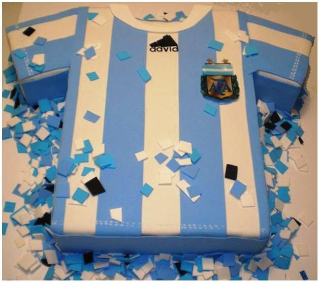 Argentina Flag Cake