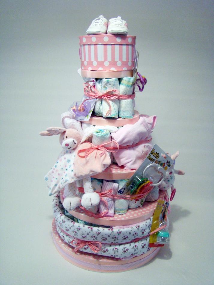tarta pañales 5 pisos