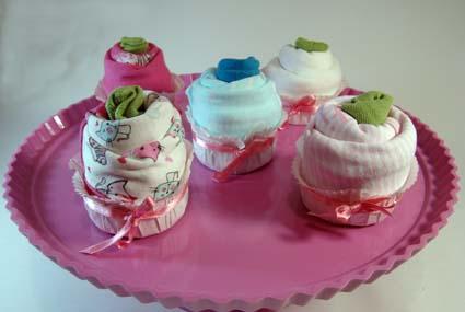 tartas de pañales cupcakes diaper
