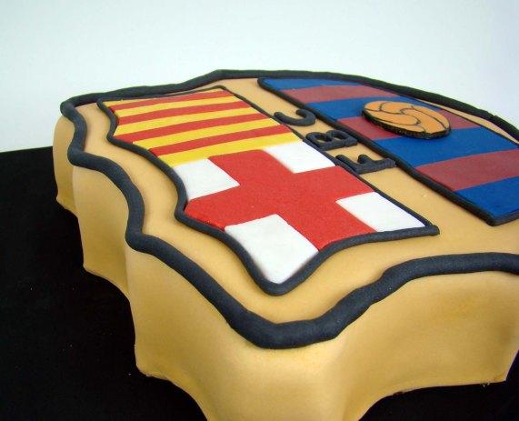 Tarta del escudo del barcelona