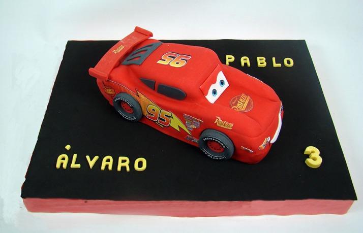 tarta rayo mcqueen cars
