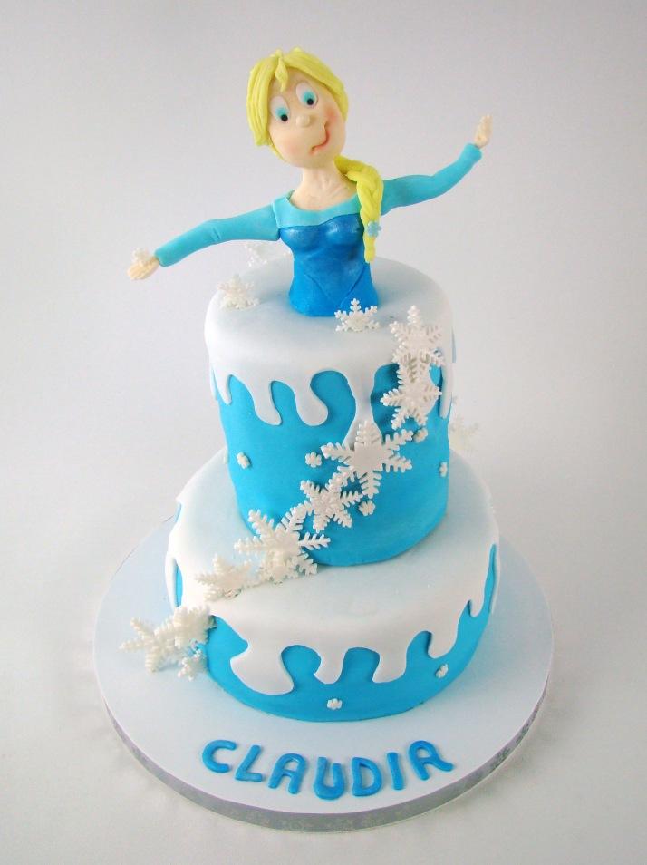 Tarta Elsa FrozenElsa frozen modelado figura