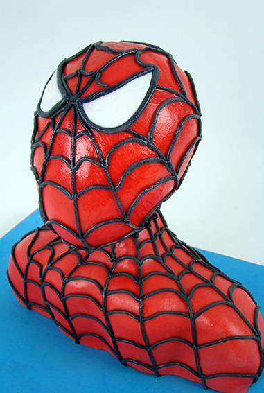 tarta busto Spiderman 1
