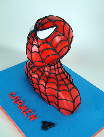 tarta busto Spiderman3