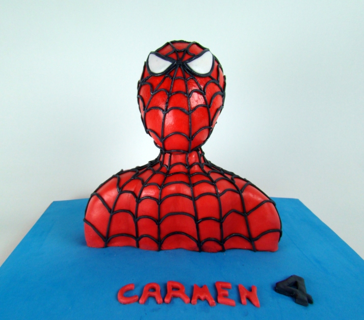 tarta busto Spiderman4