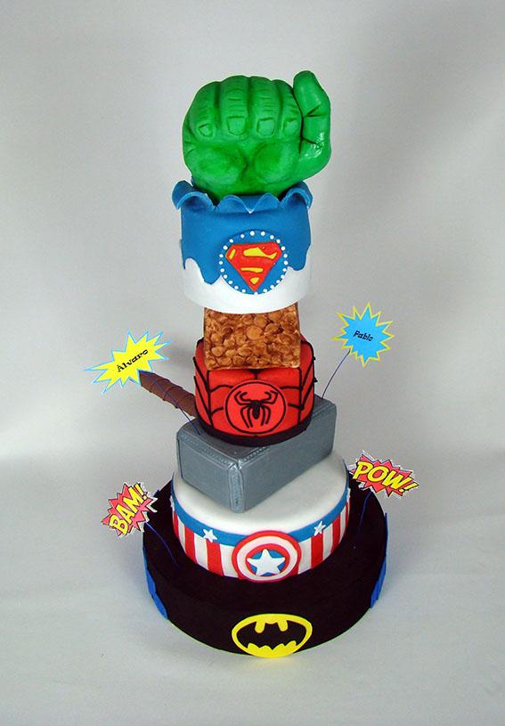 tarta superheroes 2 4