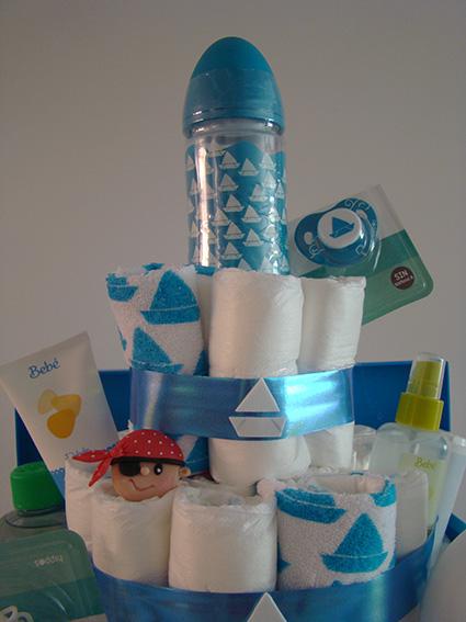 cesta pañales niño marinero