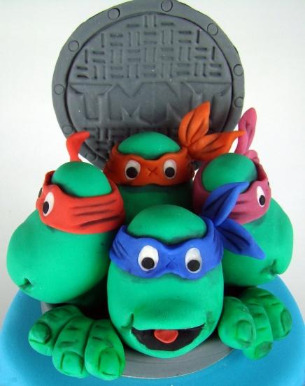 topper tarta ninja