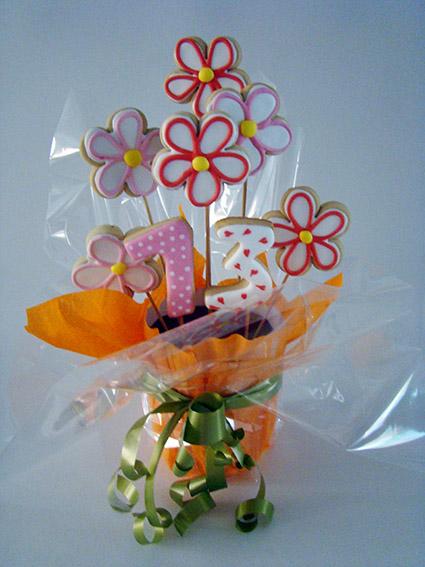 ramo de flores de galletas 2