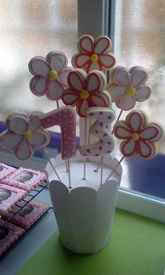 ramo flores galletas 1