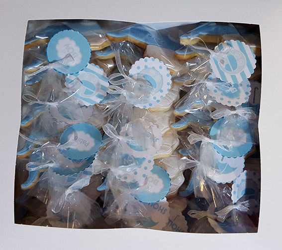 Galletas bautizo Pablo baby shower