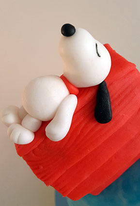 tarta snoopy carlitos brown 3