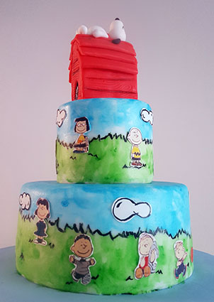 tarta snoopy carlitos brown 5